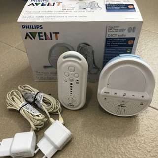 Philips Avent dect audio baby monitor