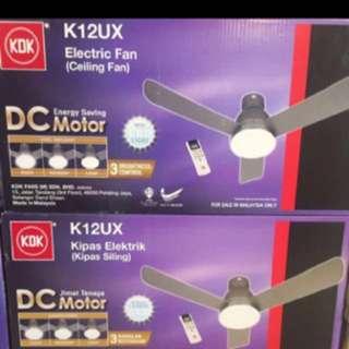 """KDK Ceiling Fan KDK 48""""Ceiling Fan With lighting K12UX junior Nikko"""