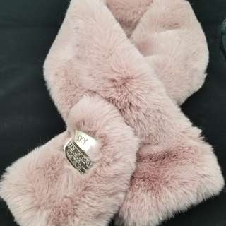 (全新)暗粉紅Cashmere毛毛頸巾