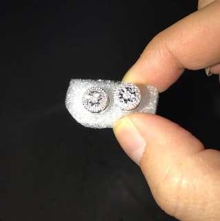 925純銀鑽石耳環