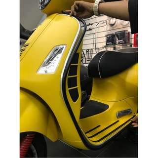 Beading Legshield for the Vespa GTS 150/300