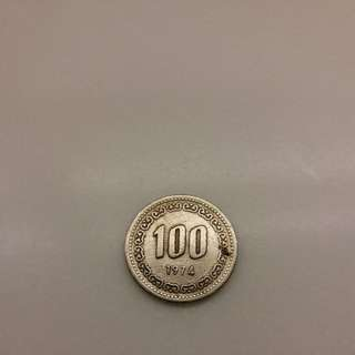 1974 korean 100won