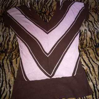 Mng wide neck shirt