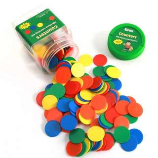 "BNIP: Eureka Tub of Counters, 200 Counters in 3 3/4"" x 5 1/2"" x 3 3/4"" Tub"