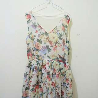 Dress flowery party