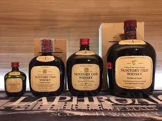 Suntory Old Whisky 50ml 180ml 350ml 750ml 一套
