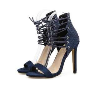 Crisscross lace up sandals ladies