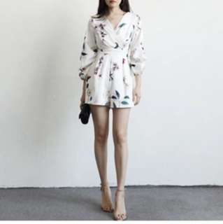 Brand new in pack floral romper white