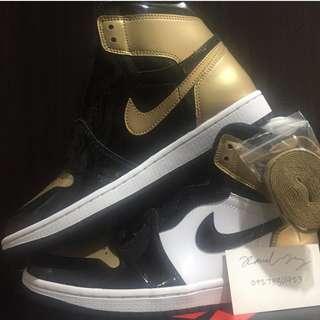 size 8.5 Nike Air Jordan 1 Retro Hi OG Gold Toe NRG not ultraboost nmd