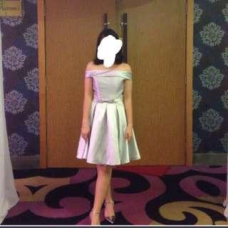 Silver Grey dinner Gown/ evening dress / bridesmaid dress