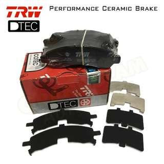 Perodua Myvi Lagi Best (Front) TRW DTEC Performance Brake Pad