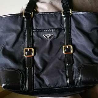 Prada Vintage nylon leather bag