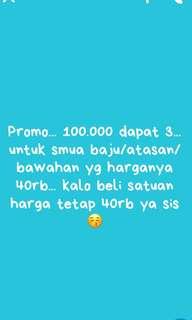 Promo 100.000/3pcs