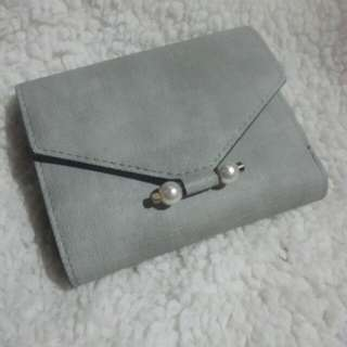 Gray Wallet With Multiple Card Slots