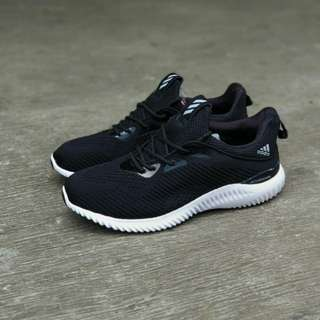 Adidas alfabounce ( black white) made in vietnam