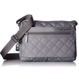 AUTHENTIC Hedgren women bag shoulder sling crossbody bag quilted grey