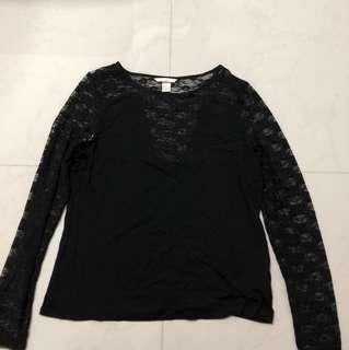 BN H&M Black laced top