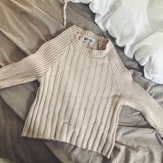 nude jumper/top