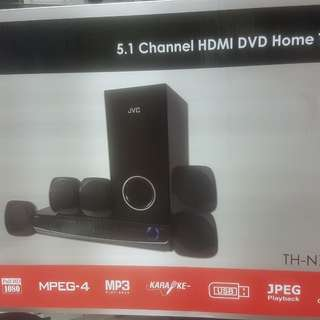 JVC 5.1 CHANNEL HDMI DVD HOME THEATRE