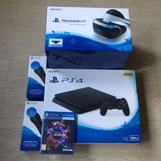 PS4 + PlayStation VR + Camera + Accessories Bundle (Brand New, Unopened)