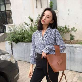 PO retro Korean style shirt