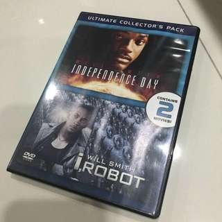 DVD Double Features - Independence Day and I-Robiy
