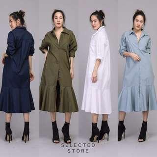 [BEST SELLING] [PO] RB Shirt Maxi Dress
