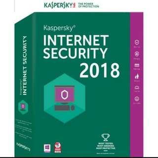 Kaspersky Internet Security 1 Year 1 Device 2018