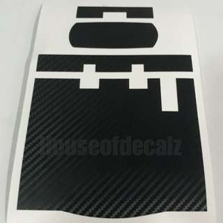 Slim iu unit Matte Black Carbon Fibre Sticker