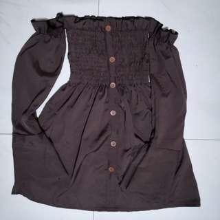 Ruffled off shoulder top / dress