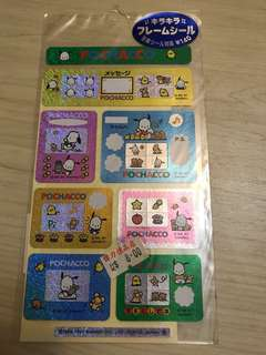 Pochacco Photo Frame Stickers ( Made in japan in 1997)