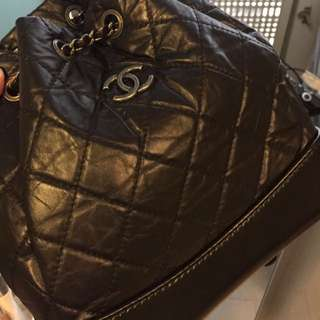 Chanel Gabrielle backpack small blk
