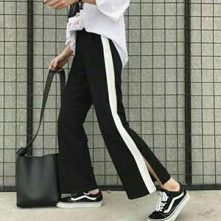 Stripe Split Pants