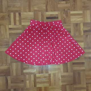Cute Cotton On Polka dotted Skater Skirt