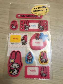 My Melody 海綿Photo Frame Stickers ( Made in japan in 1997)