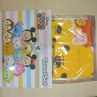 迪士尼可愛毛巾2條Disney Tsum Tsum towel set