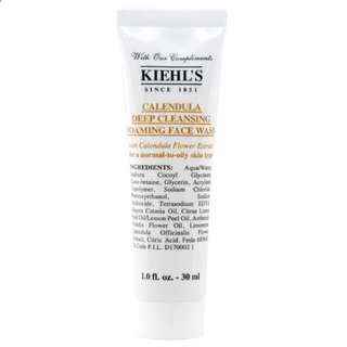 Khiels' Calendula Deep Cleansing Foaming Face Wash 30ml