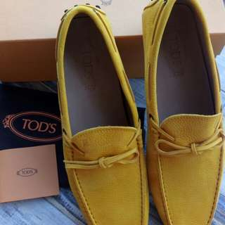 Authentic Tod's Loafers Gommino Suede Driving Shoes