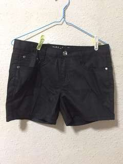 Plain Black Shorts
