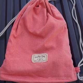 Exsport Sunday Folks Drawstring Backpack Peachy Pink