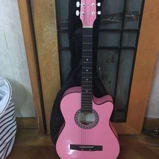 粉紅 結他 pink guitar