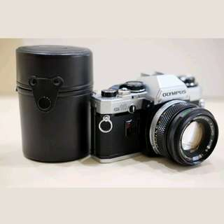 Vintage Olympus 35mm Film Camera with 2 Lens