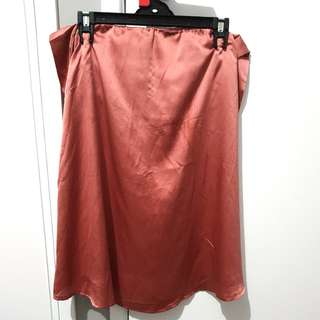 Pink silk skirt/top