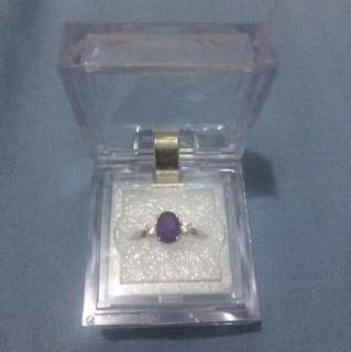 Amethyst Ring and Earrings set (Silver)