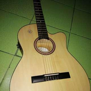 Rj Acoustic Deluxe Manila Guitar