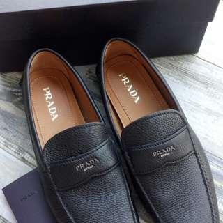 Authentic Prada Men Calf Leather Mocassins