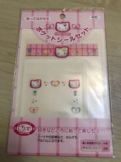 Hello Kitty Picture Pocket Stickers (Made in Japan in 2000)