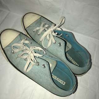 Preloved Converse All Star Original Light Blue Sneakers Low
