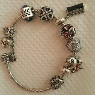 RUSH!! Pandora Bracelet with Charms