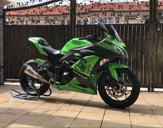 Banyak FREE Gift‼️, Ninja 300 2017 Like New Condition✔️ Low Mileage. Cash Buyer Only. Read Descriptions below for Bike Performance and Accessories!!